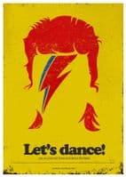 David Bowie - LETS DANCE minimalist art - canvas print - self adhesive poster - photo print